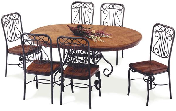 Produit r f rence fauteuil ab 01 dimention h 40 cm l for Table de salle a manger fer forge et bois